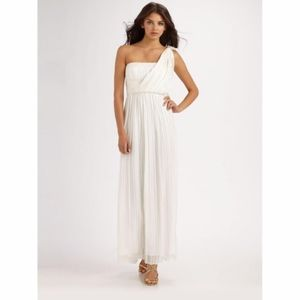 BCBG one shoulder grecian style silk gown
